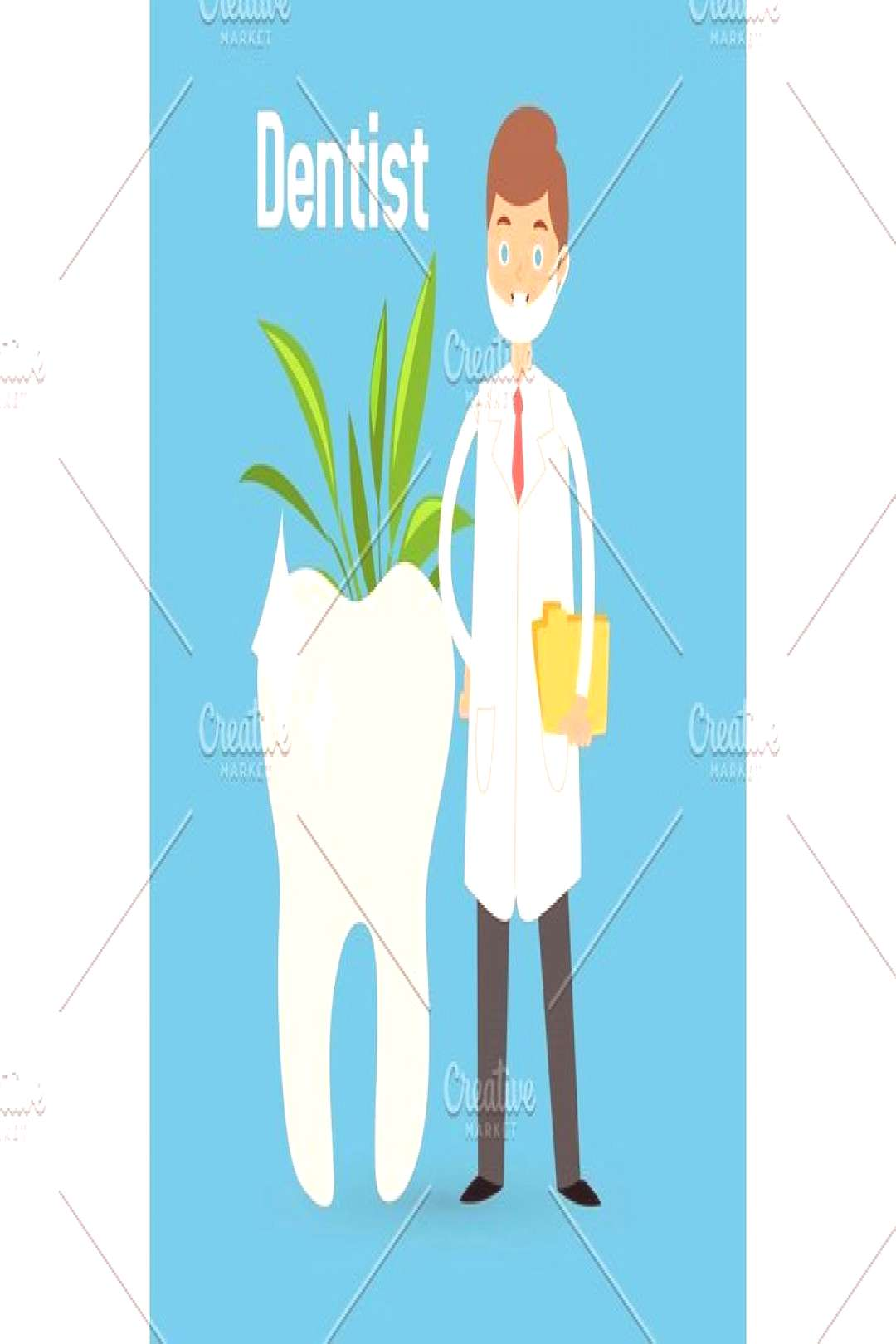 ,  Different doctors profession charactsers seamless pattern background vector medical people