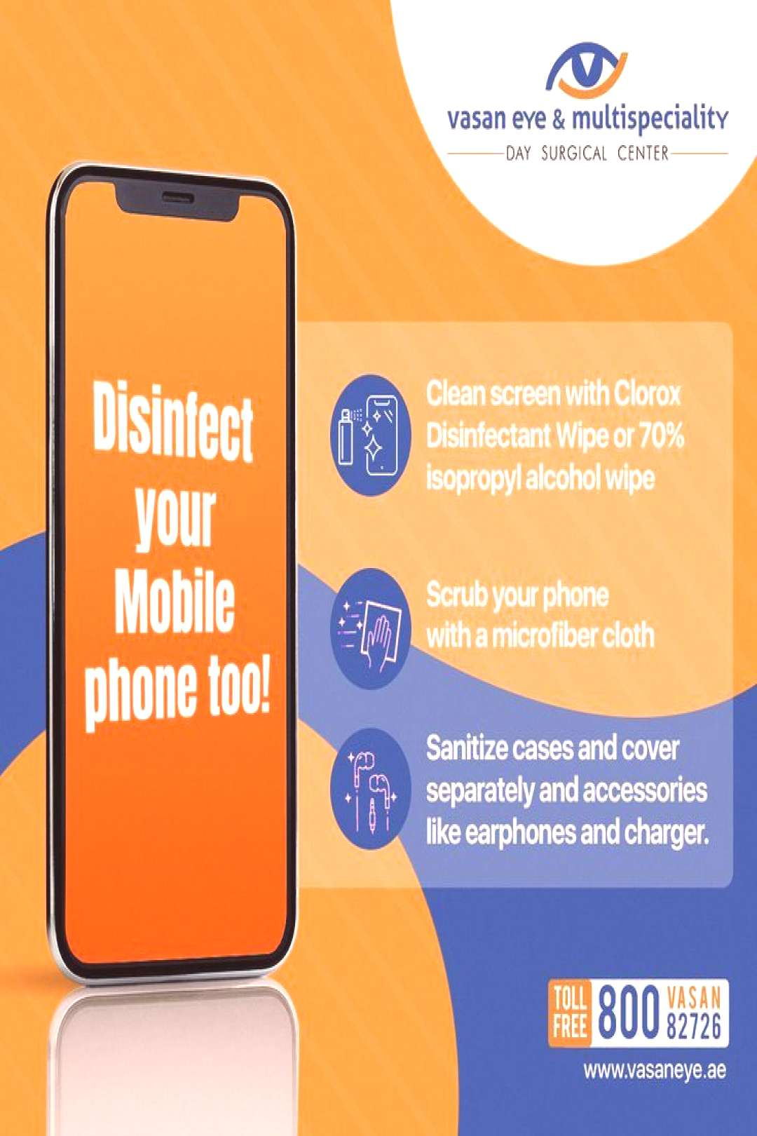 Your phone's hygiene is important as your hand hygiene. Keep it clean.