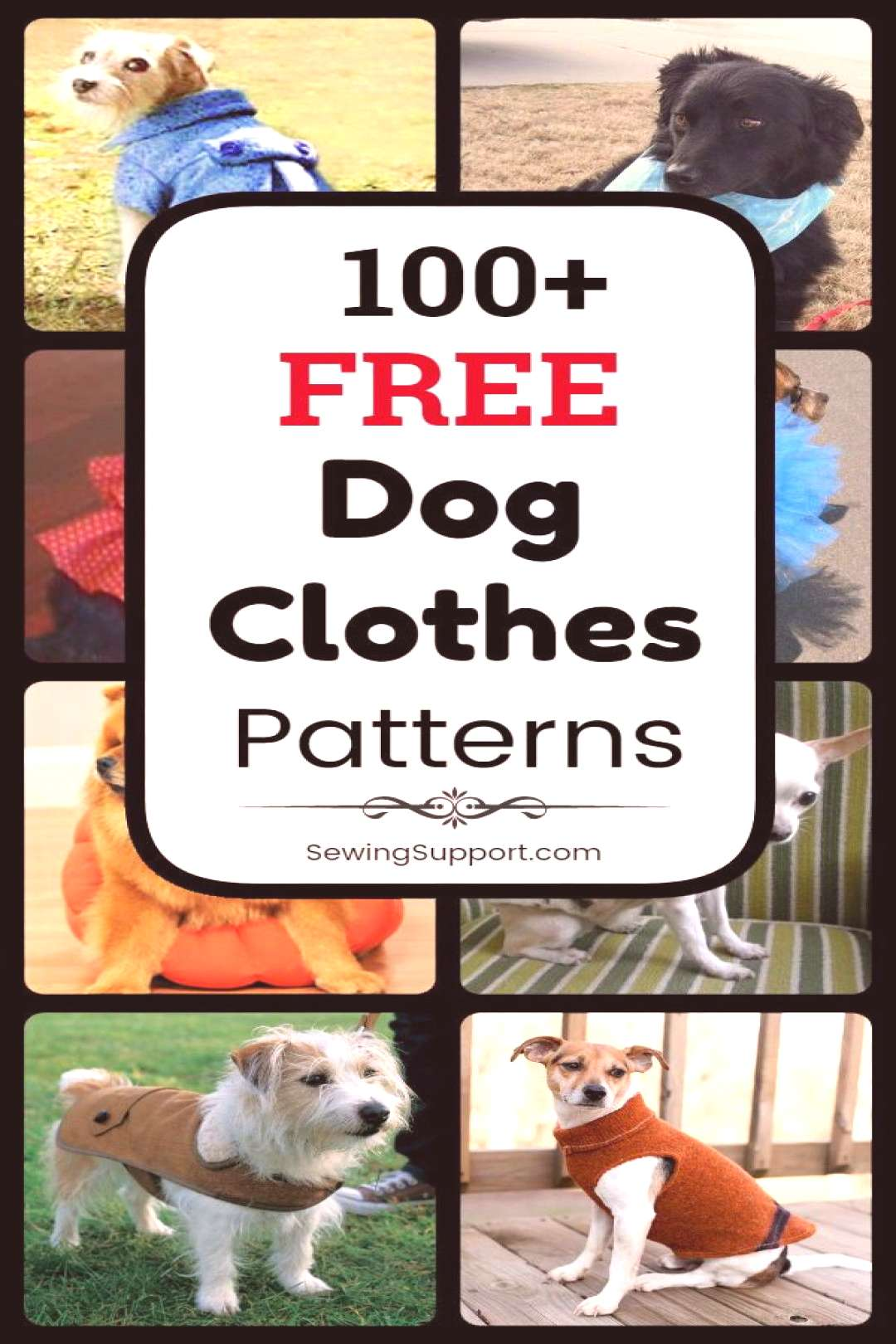 100 Free Dog Clothes Patterns