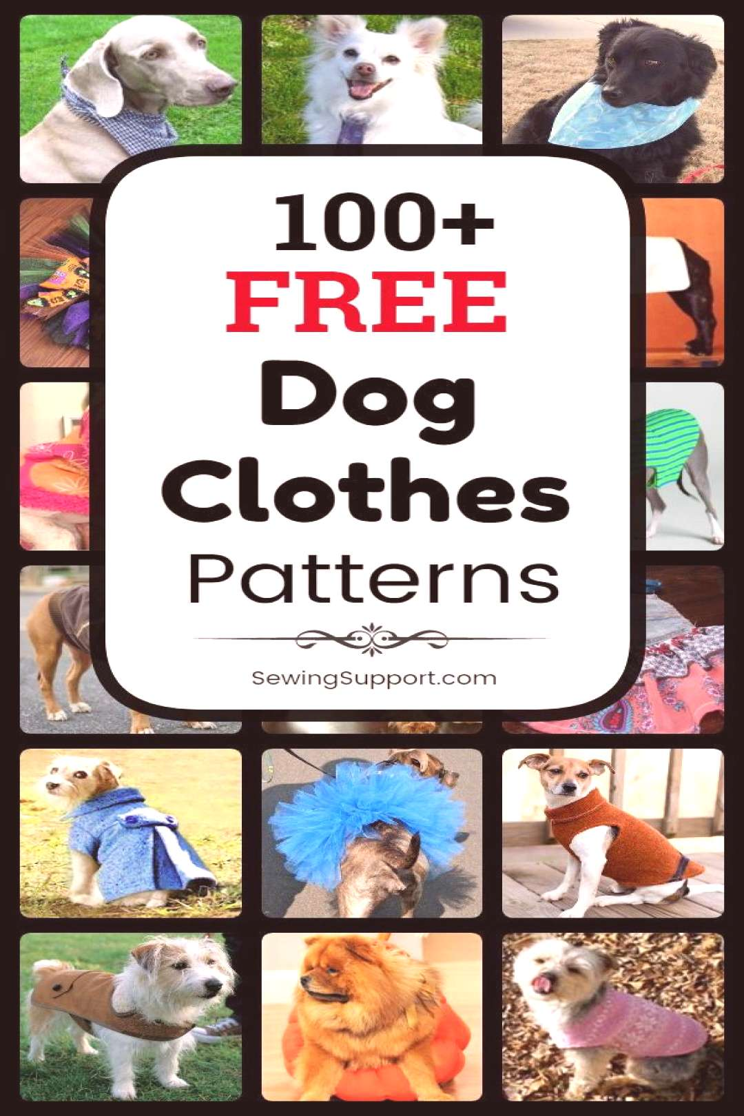100+ Free Dog Clothes Patterns Dog Clothes DIY. 100+ free dog clothes patterns, tutorials, and diy