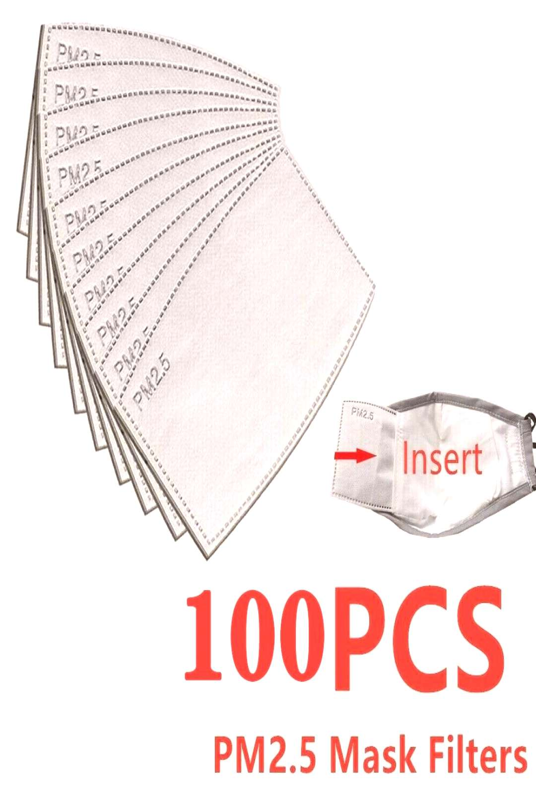 10-100 PCS PM2.5 Filter Paper Anti Haze Mouth Mask Anti Dust Mask Activated Carbon Filter Paper Hea