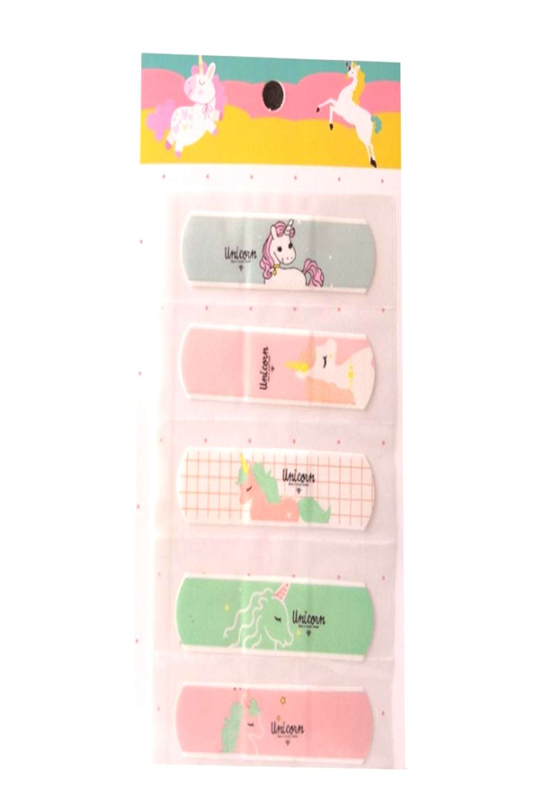 10Pcs/Set Waterproof Cartoon Bandage Sticker Baby Kids Care First Band Aid Travel Emergency Kit Pri