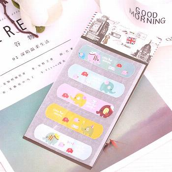 10 Pcs/2 Set Cute Waterproof PVC Band Aid Bandage Sticker Baby Kids Care First Band Aid Travel Emer