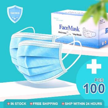 10/50/100 Pcs Disposable Mouth Mask 3-Ply Anti-Dust Meltblown cloth Masks Nonwoven Face Masks Elast
