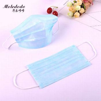 10pcs Disposable Mouth Mask 3-Layer Non-woven Face Mask Anti Dust Mouth Nose Cover Medical Respirat