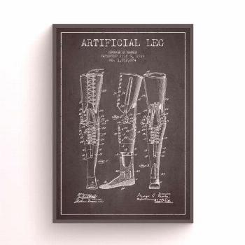 1912 Artificial Leg Patent Print, Doctors Office Decor, Doctors Office Print, Wa...,  1912 Artifici