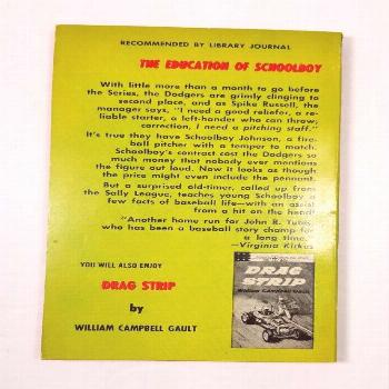 1963 Schoolboy Johnson by John R Tunis Vintage Berkley Highland Paperback Brooklyn Dodgers Baseball