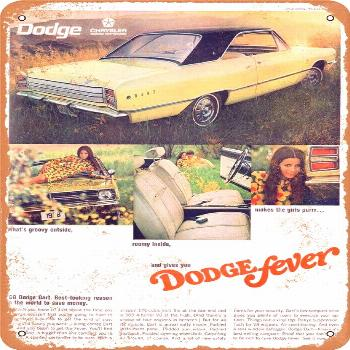 1968 Dodge Dart Vintage Look Metal Sign