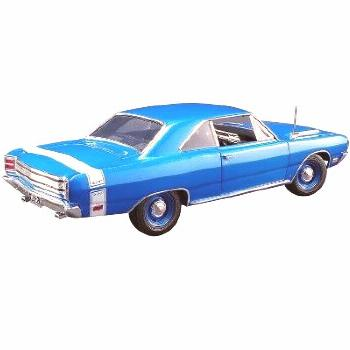 1969 Dodge Dart GTS 440 B5 Blue Metallic with White Stripe Limited Edition to 666 pieces 1/18 Dieca