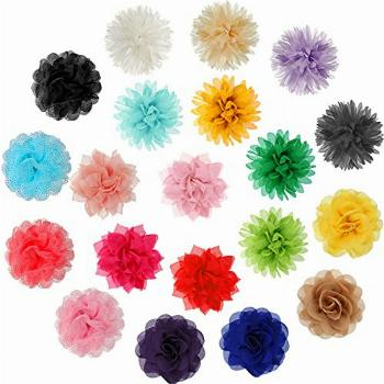 20 Pieces Dog Multi-Color Charms Flowers Dog Collar Flowers