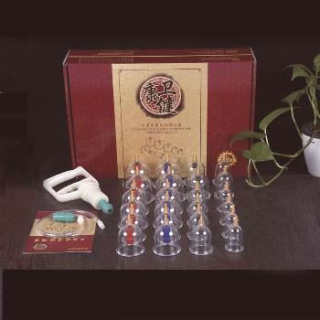 24 Cups Vacuum Cupping Set hijama Magnetic Aspirating Cupping Cans Acupuncture Massage Suction Cup