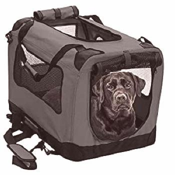 2PET Foldable Dog Crate - Soft, Easy to Fold & Carry Dog Crate for Indoor & Outdoor Use - Com... co
