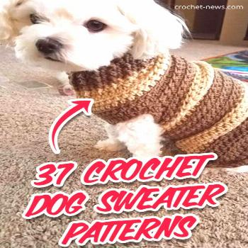 37 Crochet Dog Sweater Patterns - Crochet News