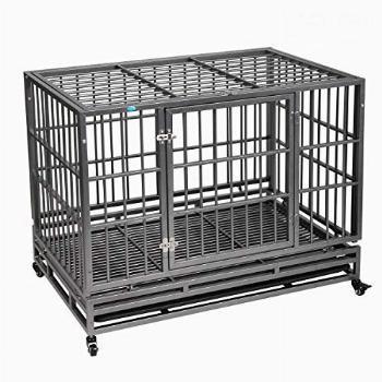 """37""""/42.5"""" Heavy Duty Dog Kennels and Crates for Large"""
