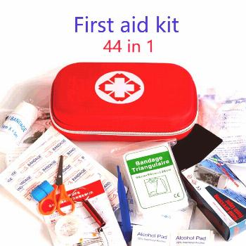 44 in 1 First Aid Kit For Medicines Outdoor Camping Medical Bag Empty Survival Handbag Emergency Ki