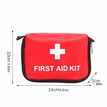 9-Piece Small Emergency Kit Set Outdoor Family Car Gift First Aid Kit High-Density Ripstop Easy Pic