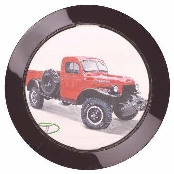 Antique Power Wagon Usb Charging Station