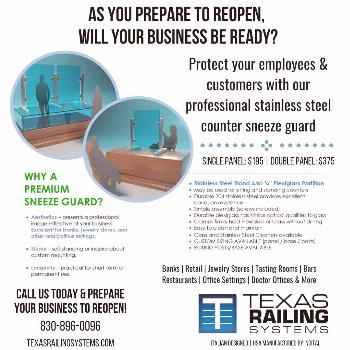 As Texas businesses get ready to reopen, will your business be ready? Protect your employees & cust