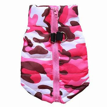 BBEART Pet Coat,Dog Winter Clothes Warm Padded Pink