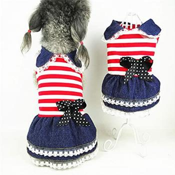 Carol Dog Dress Dog Clothes for Small Dogs Girl Puppy Vest