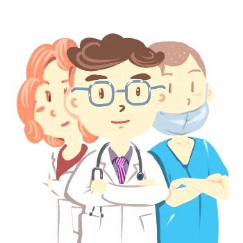 Cartoon Doctor Image Element, Doctors, Male Doctor, Female Doctor PNG Transparent Image and C...