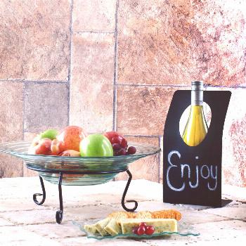 Chalk Up A Personal Not e on this Wine Stand Make someone's day with a personal note inscribed on t