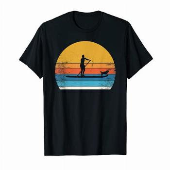 Cool funny Stand Up Paddle Board Dog SUP Paddling Boarding