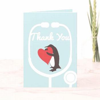Cute Penguin Doctor and Nurse Thank You Card Cute Penguin Doctor and Nurse Thank You Cards