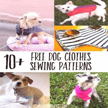 Cutest paid & free printable dog clothes patterns - Swoodson Says