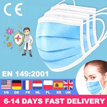 disposable 3 layer safety breathable Mask Anti Dust carbon filter ear loop eslatic Mouth face prote