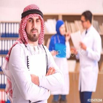 Diversity concept with doctors in hospital ,