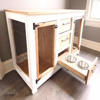 DIY Dog Crate Console - Shanty 2 Chic