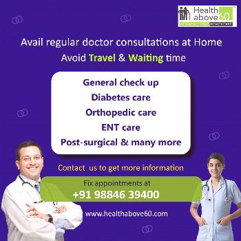 Doctor consultation at Home Not just grocery stores, and have queues and extra long waiting time to
