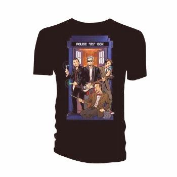 Doctor Who 4 Doctors Band T-shirt -