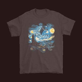 Doctor Who Starry Night Tardis Travelling Shirts – Snoopy Facts -  Doctor Who Starry Night Tardis