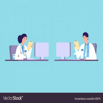 Doctors at work medical hospital staff people Vector Image ,