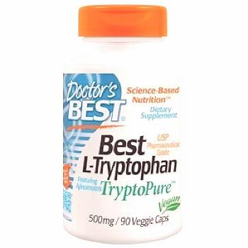 Doctor's Best, L-Tryptophan with TryptoPure, 500 mg, 90 Veggie Caps - Doctor's Best, Best L-Trypt