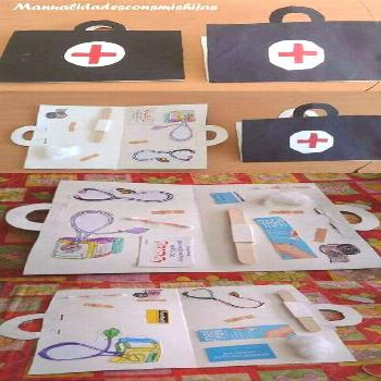 Doctor's briefcase craft activity for community helpers theme - Arts Job - Id,  Doctor's briefcase