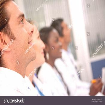 doctors in a hospital having a meeting ,