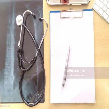 Doctors Office Desk With Medical Documents Charts And Stethoscope Photography ,