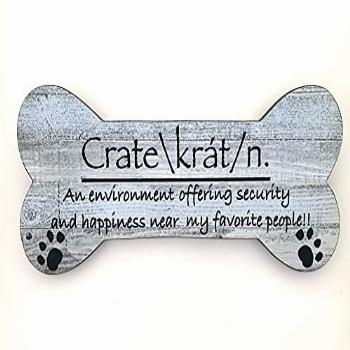 Dog Home Decor Crate Hanging or Wall Hanging in a Blue/Gray