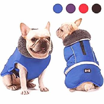 DORA BRIDAL Dog Coat Supplement, Dog Tutleneck Coats Apparel, Pet Waterproof Windproof Cloth ... ni