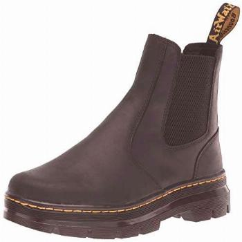 Dr. Martens unisex adult Chelsea Boot, Black Wyoming, 8