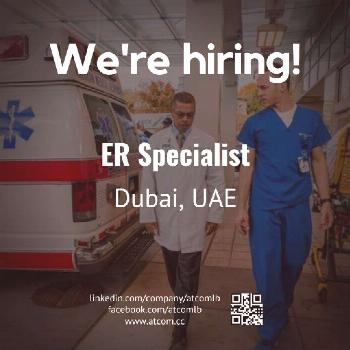 Dubai Jobs | ER Specialist (DHA Licensed or Eligibility Letter)  Check out our advert link: