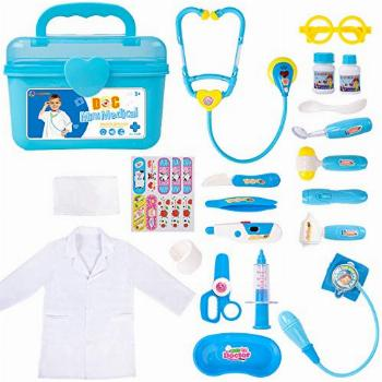 Durable Doctor Kit for Kids, 23 Pieces Pretend Play