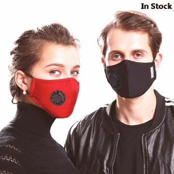 Dust PM2.5 Mouth Mask N95 With 2 Replaceable Filters Anti Pollution Breathable Face Mask Cotton Was