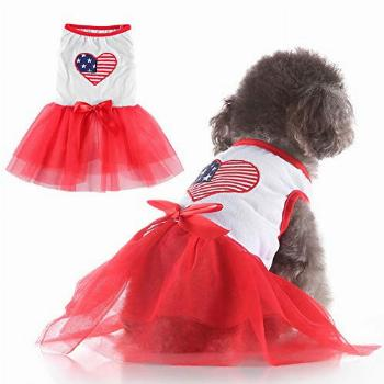 EMUST Dog Dress, Sweet Puppy Clothes for Small Dogs Female,