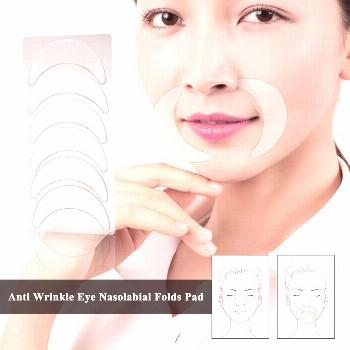 Facial Anti Wrinkle Silicone Pads Set Medical Grade Silicone Nasolabial Folds Anti-aging Mask Preve