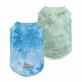 Fitwarm 2-Pack 100% Cotton Tie Dye Dog Clothes with