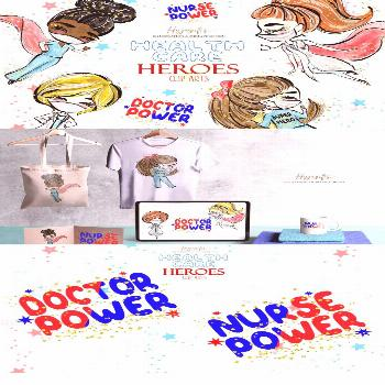 Healthcare Heroes Clipart Perfect for making your own paper craft, scrapbooking,patterns for paper